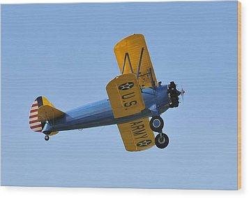 U.s.army Biplane Wood Print by David Lee Thompson