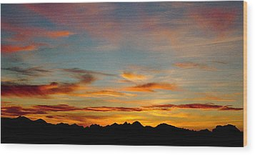 Usery Sunset Wood Print