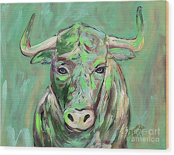 Usf Bull Wood Print by Jeanne Forsythe