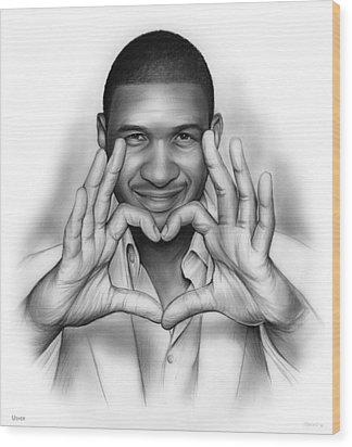 Usher Wood Print