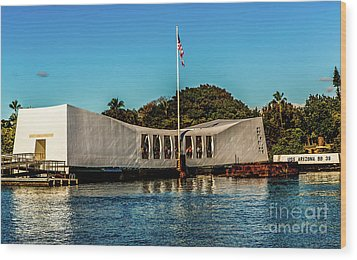 Uss Arizona Memorial Wood Print by Jon Burch Photography