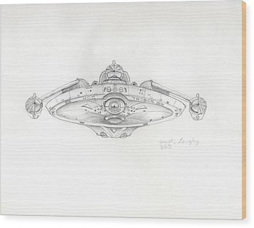 Uss Bering Sea Front View Wood Print by Joseph A Langley