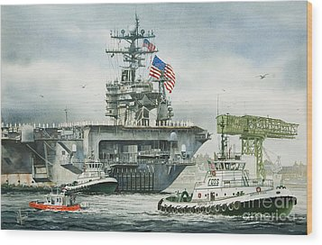 Uss Carl Vinson Wood Print by James Williamson
