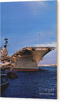 Uss Forrestal Cv-59 Wood Print by Thomas R Fletcher