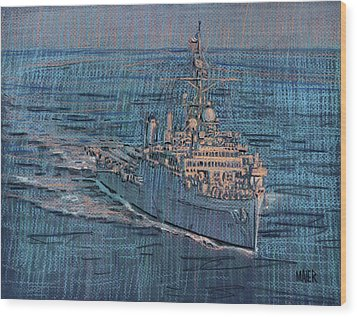 Uss Juneau Lpd 10 Wood Print