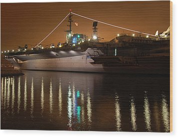 Uss Midway Wood Print by Kelly Wade