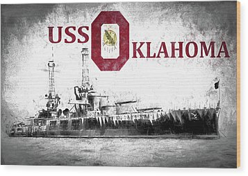 Uss Oklahoma Wood Print by JC Findley