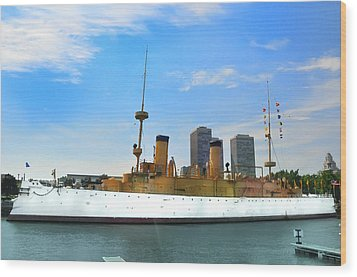 Uss Olympia Wood Print by Bill Cannon
