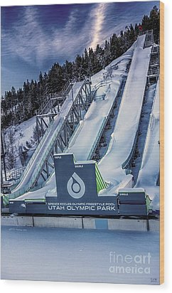 Utah Olympic Park Wood Print by David Millenheft
