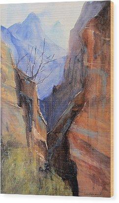 Utah Red Rocks Wood Print by Sandra Strohschein