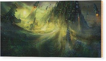 Utherworlds Monolith Wood Print by Philip Straub