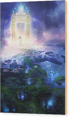 Utherworlds Passage To Hope Wood Print by Philip Straub