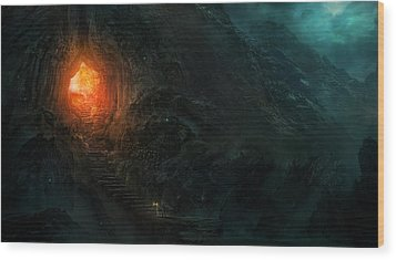 Utherworlds Threads Of Kirillia Wood Print by Philip Straub