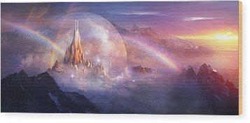 Utherworlds Unohla Wood Print by Philip Straub