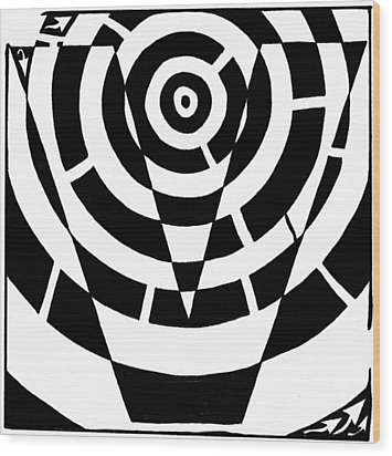 V Maze Wood Print by Yonatan Frimer Maze Artist