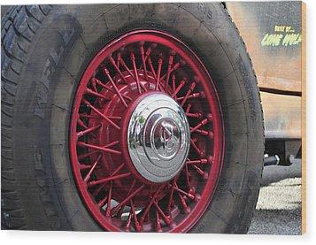 V8 Wheels Wood Print by David Lee Thompson