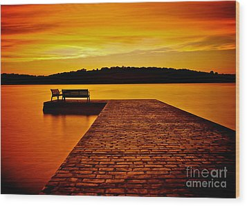 Vacant Sunset Wood Print