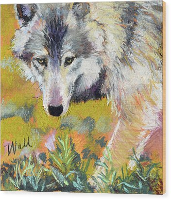Wood Print featuring the pastel Vagabond by Pattie Wall
