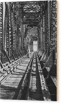 Vagrant On Bridge Wood Print by Don Wolf