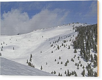 Vail Resort - Colorado - Blue Sky Basin Wood Print by Brendan Reals