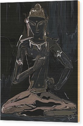 Wood Print featuring the digital art Vajrasattva by Rabi Khan