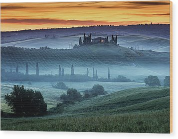 Val D'orcia Wood Print by Evgeni Dinev