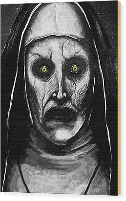 Valak The Demon Nun Wood Print by Taylan Apukovska