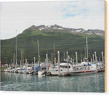 Wood Print featuring the photograph Valdez Alaska Marina by Adam Owen