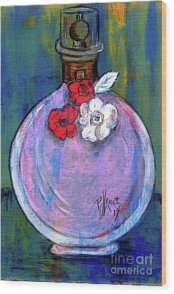 Wood Print featuring the painting Valentina by P J Lewis