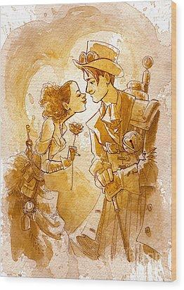 Valentine Wood Print by Brian Kesinger