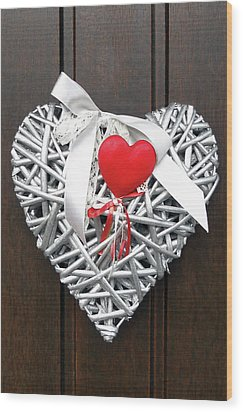 Wood Print featuring the photograph Valentine Heart by Juergen Weiss