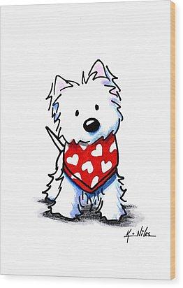Valentine Westie Wood Print