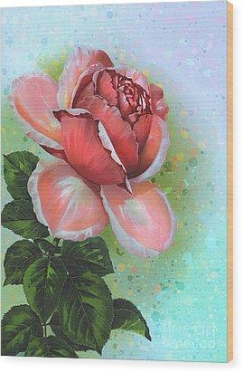 Wood Print featuring the digital art  Valentine's Day by Andrzej Szczerski