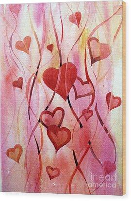 Valentines Day Wood Print