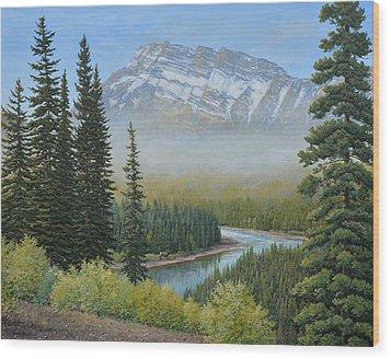 Valley Floor Wood Print
