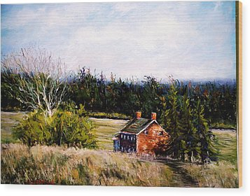 Valley Forge Spring Wood Print by Joyce A Guariglia