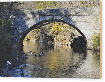 Valley Green Bridge Wood Print by Bill Cannon