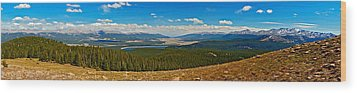 Valley Of 14ers Panorama Wood Print by Jeremy Rhoades