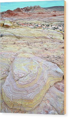 Wood Print featuring the photograph Valley Of Fire Pastels by Ray Mathis