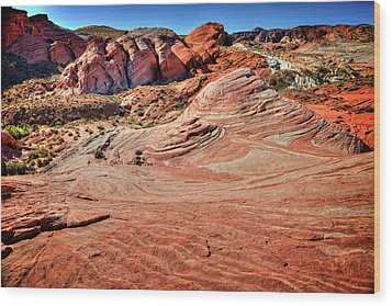 Valley Of Fire State Park Nevada Wood Print by James Hammond