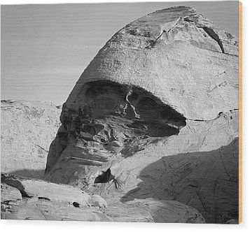 Valley Of Fire V Bw Wood Print by David Gordon