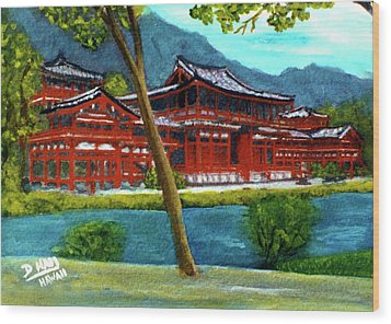 Valley Of The Temples Buddhist Temple #73 Wood Print by Donald k Hall