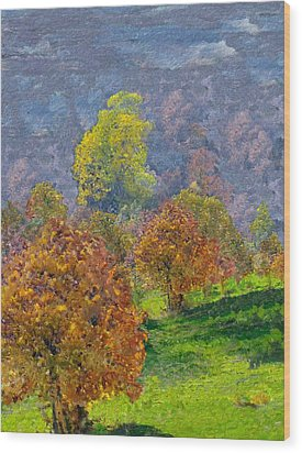 Valley Of The Trees Wood Print