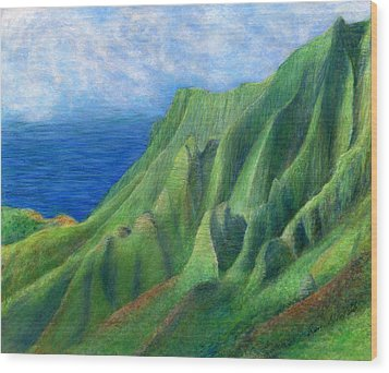 Valley Sunlight Wood Print by Kenneth Grzesik