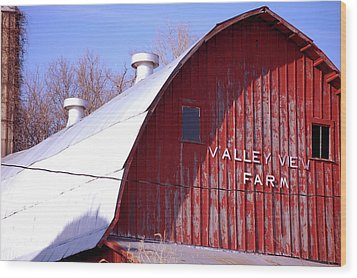 Valley View Wood Print by Jame Hayes