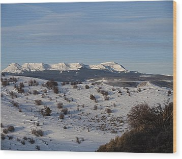 Valley View Of Flat Tops Wood Print by Daniel Hebard