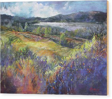Valley View Wood Print by Rae Andrews