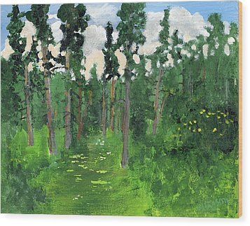 Valley Walk Wood Print by Rodger Ellingson