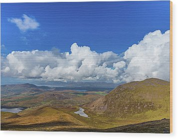 Valleys And Mountains In County Kerry On A Summer Day Wood Print by Semmick Photo