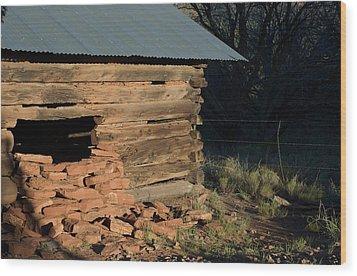 Van Deren Cabin Wood Print by Susan Heller